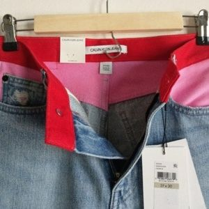 Calvin Klein Jeans Jeans - NEW Calvin Klein High Rise Pink Colorblock Jeans